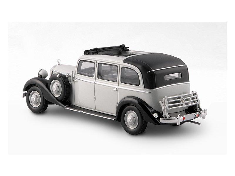 miniatuur 4 - MB Mercedes Benz 260D Pullman Landaulet - 1936 / 1940 - grey - ESVAL 1:43