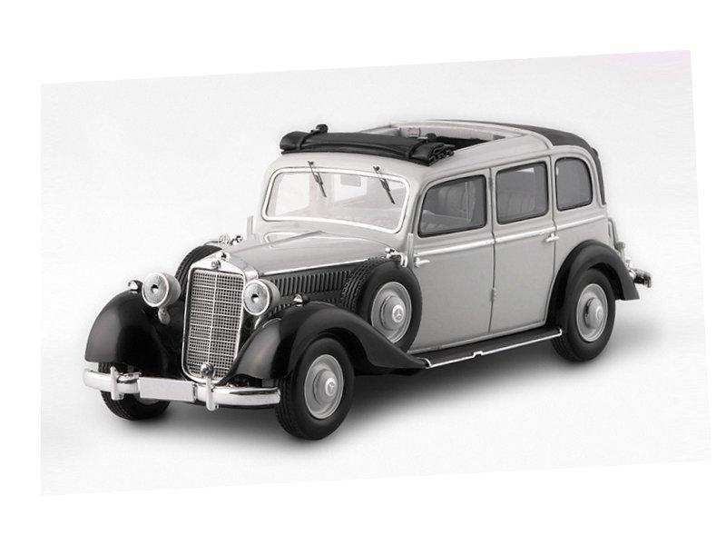 miniatuur 2 - MB Mercedes Benz 260D Pullman Landaulet - 1936 / 1940 - grey - ESVAL 1:43