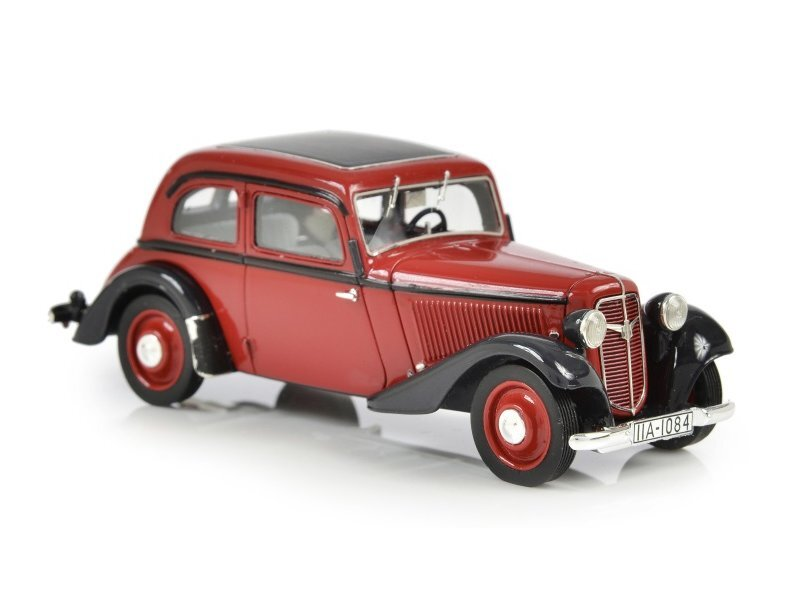 ADLER TRUMPF Junior 2-Door Sedan - 1934 - 1941 - red / black - ESVAL 1:43