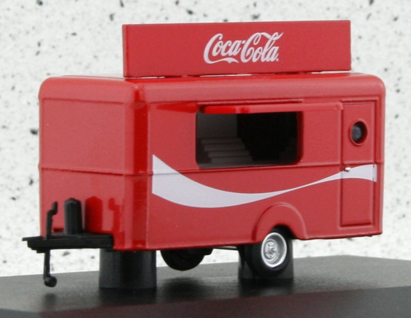 Anhänger / Trailer - Coca Cola - red - Oxford 1:76