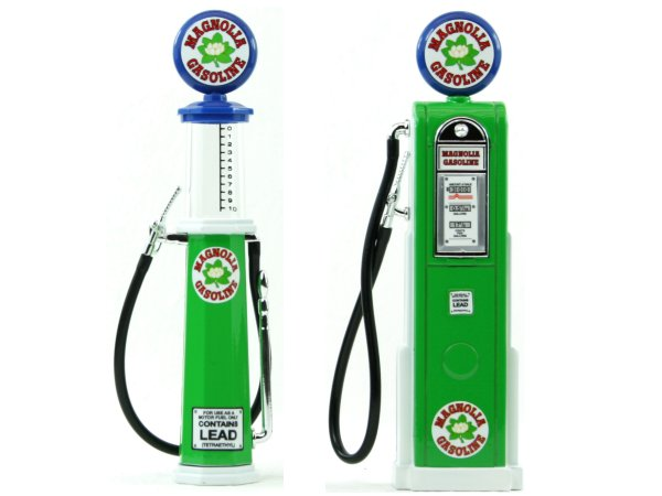 MAGNOLIA Gas Pump / Zapfsäule  - Set of 2 pieces - YATMING 1:18