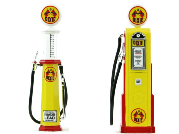 DIXIE Gas Pump / Zapfsäule  - Set of 2 pieces - YATMING 1:18