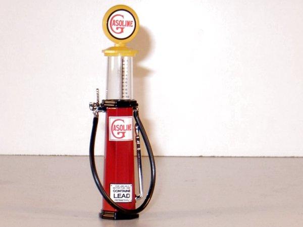 GASOLINE Gas Pump / Zapfsäule  - Round - YATMING 1:18