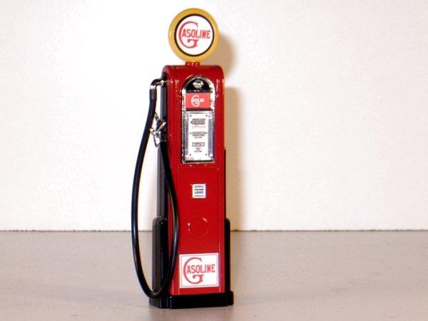 GASOLINE Gas Pump / Zapfsäule  - Square - YATMING 1:18