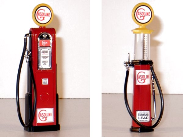 GASOLINE Gas Pump / Zapfsäule  - Set of 2 pieces - YATMING 1:18