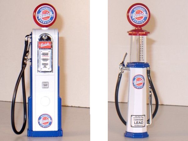 BUICK Gas Pump / Zapfsäule  - Set of 2 pieces - YATMING 1:18