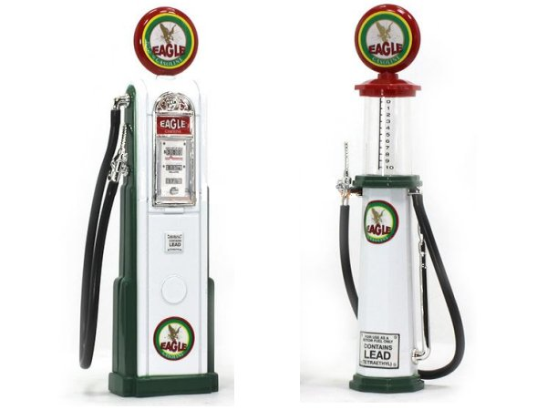 EAGLE Gas Pump / Zapfsäule  - Set of 2 pieces - YATMING 1:18