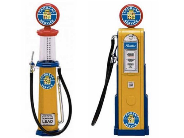 CADILLAC Gas Pump / Zapfsäule  - Set of 2 pieces - YATMING 1:18