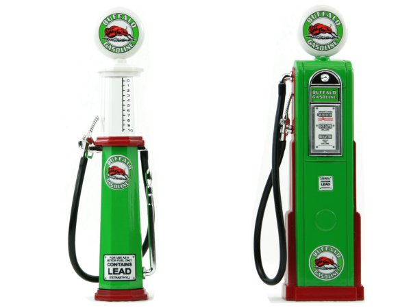BUFFALO Gas Pump / Zapfsäule  - Set of 2 pieces - YATMING 1:18