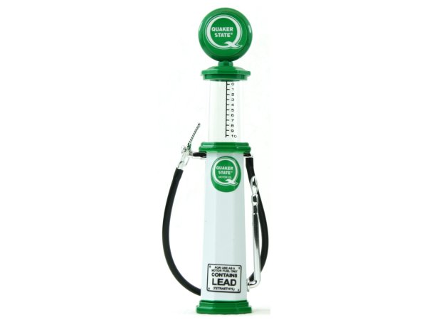 Quaker State Gas Pump / Zapfsäule  - Round - YATMING 1:18