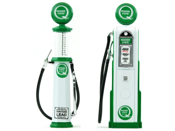Quaker State Gas Pump / Zapfsäule  - Set of 2 pieces - YATMING 1:18