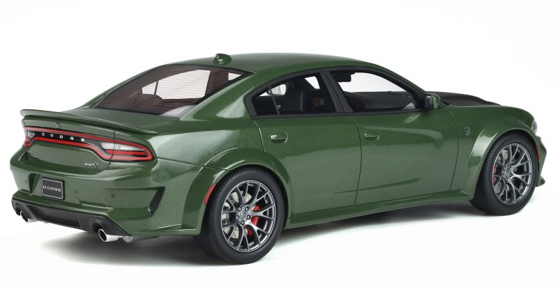 miniatuur 5 - DODGE Charger SRT Hellcat - Widebody - greenmetallic - GT Spirit 1:18