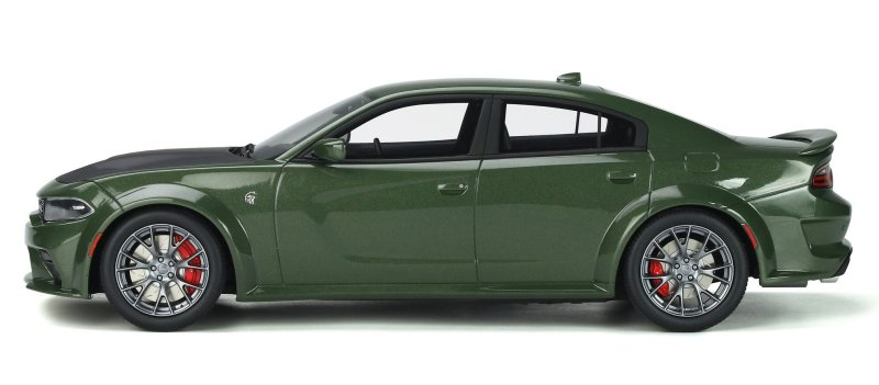 miniatuur 3 - DODGE Charger SRT Hellcat - Widebody - greenmetallic - GT Spirit 1:18