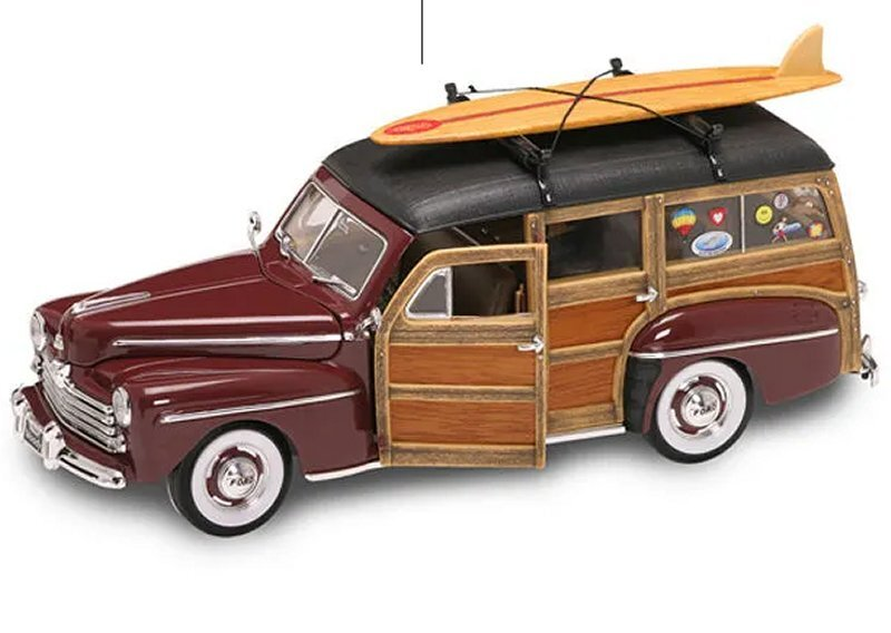 FORD Woody - 1948 - brown - YATMING 1:18