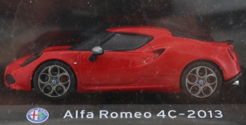 ALFA ROMEO 4C - 2013 - red - Atlas 1:43