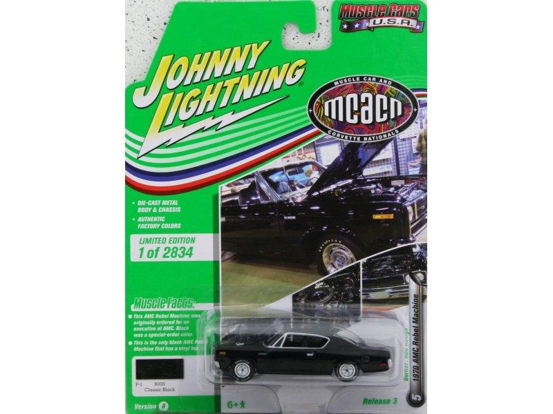 AMC Rebel Machine - 1970 - black - Johnny Lightning 1:64