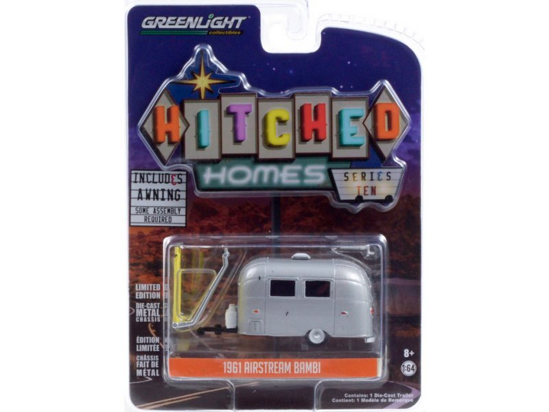 AIRSTREAM Bambi incl. Markise / Awning - 1961 - silver - Greenlight 1:64