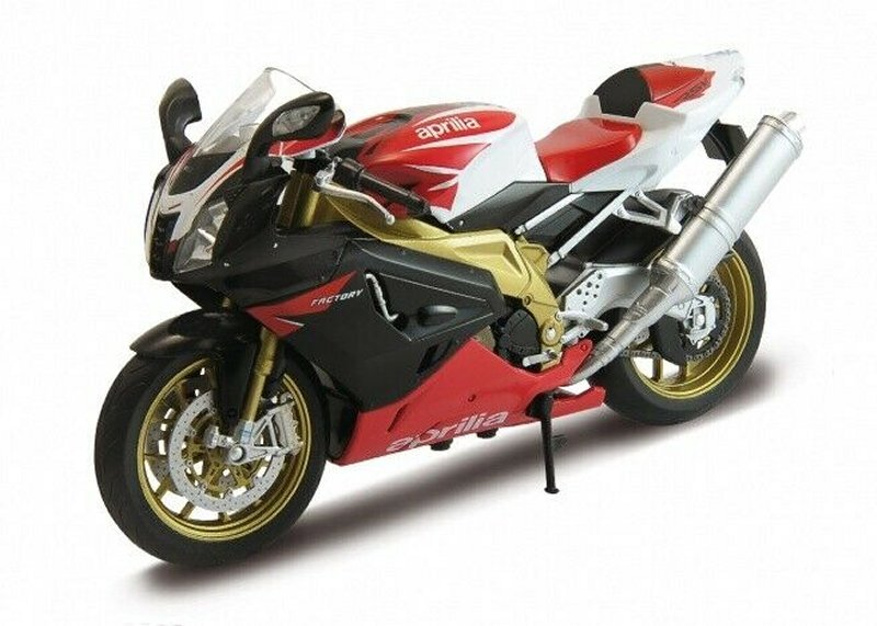 APRILIA RSV 1000R - red / white / black - WELLY 1:10
